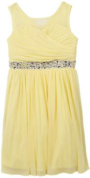 Speechless Girls 7-16 Surplice Bodice Rhinestone Dress