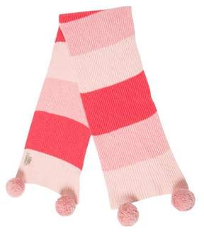Burberry Striped Pom-Pom Scarf