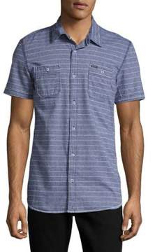 Buffalo David Bitton Sameer Woven Whale Cotton Shirt