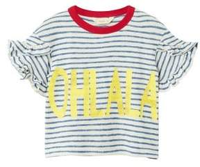MANGO Message striped t-shirt