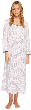 Eileen West Peached Jersey Ballet Long Sleeve Nightgown Women's Pajama