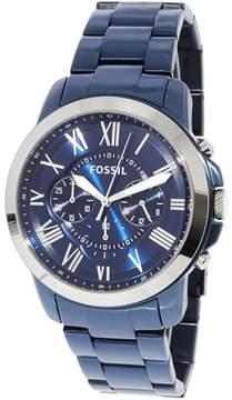 Fossil Men's Grant FS5230 Blue Stainless-Steel Japanese Quartz Fashion Watch