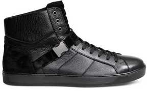 H&M Leather and Suede High Tops