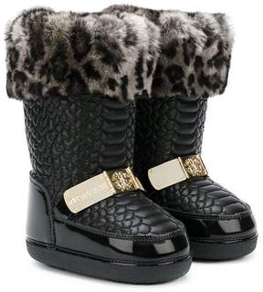 Roberto Cavalli leopard print lining boots