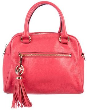 MICHAEL Michael Kors Knox Leather Charm Satchel - PINK - STYLE