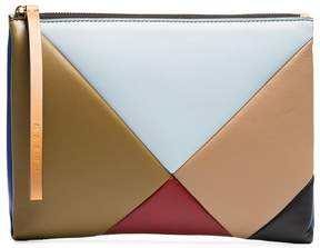 Marni Multicoloured geometric leather pouch