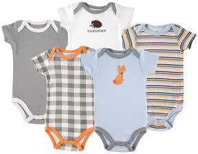 Luvable Friends Blue Fox Bodysuit - Set of Five