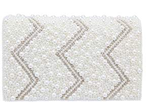 Nina Pearl & Crystal Beaded Satin Clutch