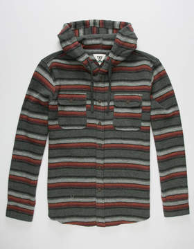 VISSLA Pumphouse Mens Hooded Flannel Shirt