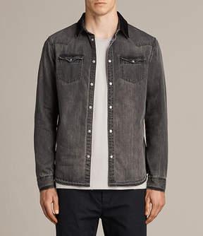 AllSaints Genki Denim Shirt