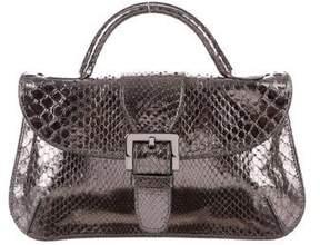 Tod's Metallic Snakeskin Bag