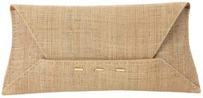 VBH Beige Wicker Clutch Bag