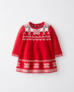 Hanna Andersson Snö Happy Fair Isle Sweater Dress