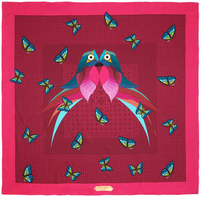 Henri Bendel Love Bird Silk Square Scarf