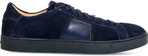 Santoni Gloria low-top suede trainers