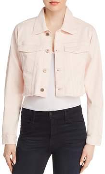DL1961 Shawn Cropped Boyfriend Denim Jacket in Blush Pink