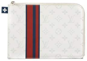 Louis Vuitton White Monogram Canvas Pochette Jour PM Clutch - WHITE - STYLE