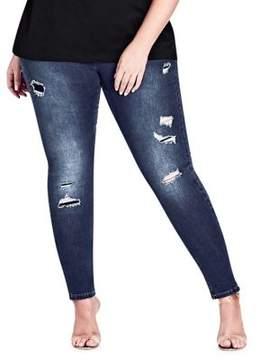 City Chic Plus Tear It Up Harley Denim Jeans