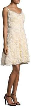 Laundry by Shelli Segal 3D Floral Fit-&-Flare Dress