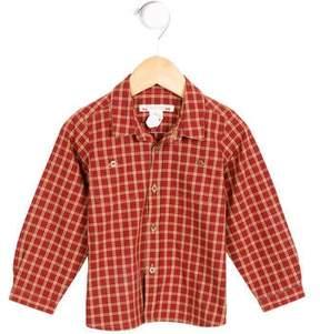 Bonpoint Girls' Plaid Button-Up Top