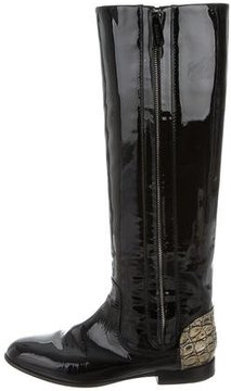 Chanel Patent Leather Knee-High Boots