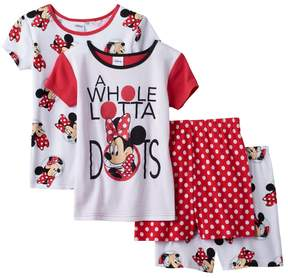 Disney Disney's Minnie Mouse Girls 4-10 A Whole Lotta Dots Pajama Set