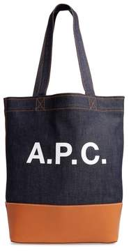A.P.C. Axelle Denim & Leather Tote