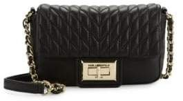 Karl Lagerfeld Agyness Leather Crossbody Bag