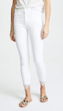 Mother The Looker Dagger Jeans with Lace