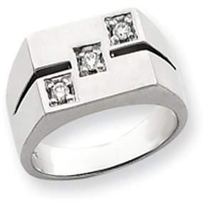 Ice 14k White Gold AA Diamond men's ring