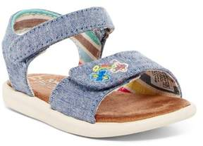 Toms Sparkle Chambray Strap Sandal (Baby, Toddler, & Little Kid)