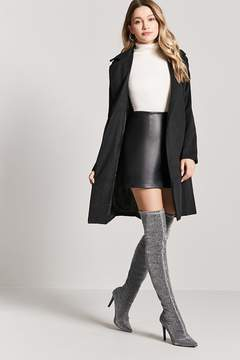 Forever 21 Metallic Knee-High Boots