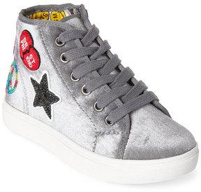 Steve Madden Kids Girls) Black J-Digits Appliquéd High Top Sneakers