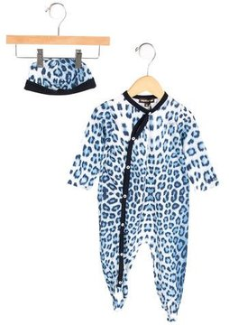 Roberto Cavalli Boys' Leopard Print All-In-One w/ Tags
