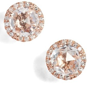 Ef Collection Women's Diamond & Topaz Stud Earrings