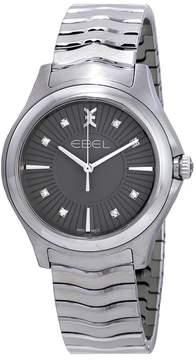 Ebel Wave Diamond Grey Dial Ladies Watch