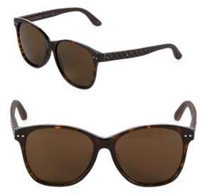 Bottega Veneta 58MM Wayfarer Sunglasses