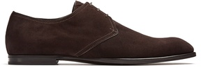 Bottega Veneta Suede lace-up suede derby shoes