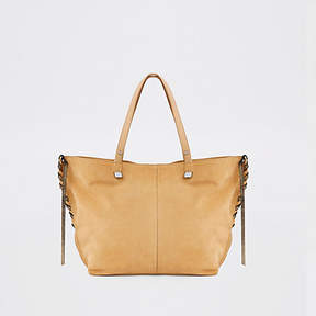 River Island Light brown leather tote bag
