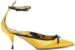 Rochas Bow-embellished satin pumps