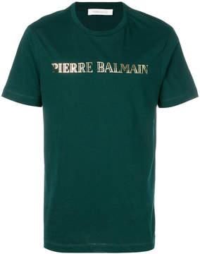 Pierre Balmain logo patch T-shirt