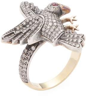 Amrapali Women's 14K Gold, Ruby & 1.10 Total Ct. Diamond Bird Ring