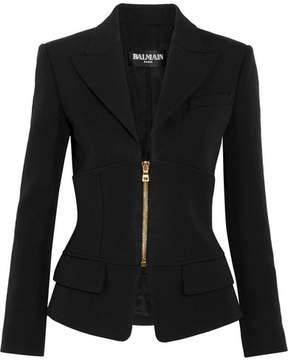Balmain Paneled Wool Blazer - Black