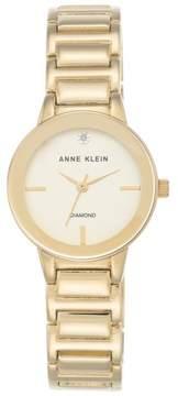 Anne Klein Diamond Accent Goldtone Champagne Dial Bracelet Watch