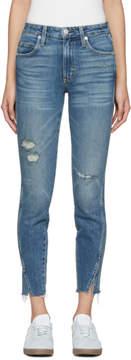 Amo Blue Twist High-Rise Jeans