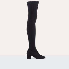 Maje Flat suede calfskin thigh boots