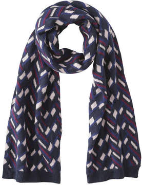 Joe Fresh Women's Geo Pattern Scarf, Fuchsia (Size O/S)