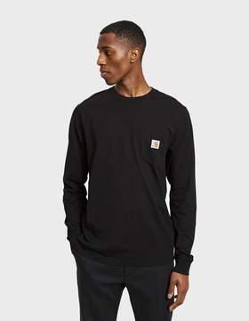 Carhartt Wip L/S Pocket T-Shirt in Black