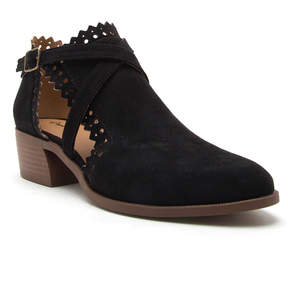 Qupid Black Rager Ankle Boot - Women