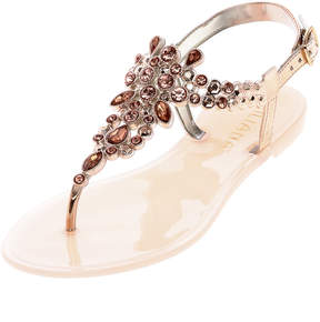 Liliana Rose Gold Bejeweled Sandals